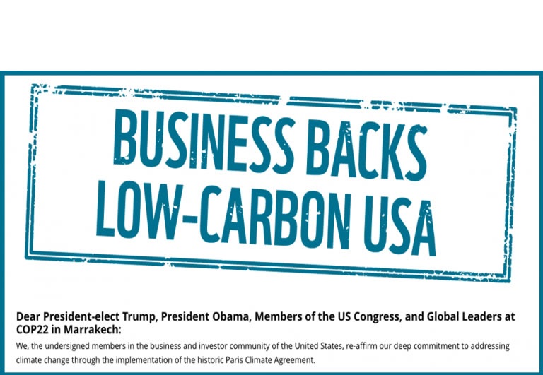 Climate Change site Hundreds Of U.S. Businesses Urge Trump To Uphold Paris Climate Deal post image