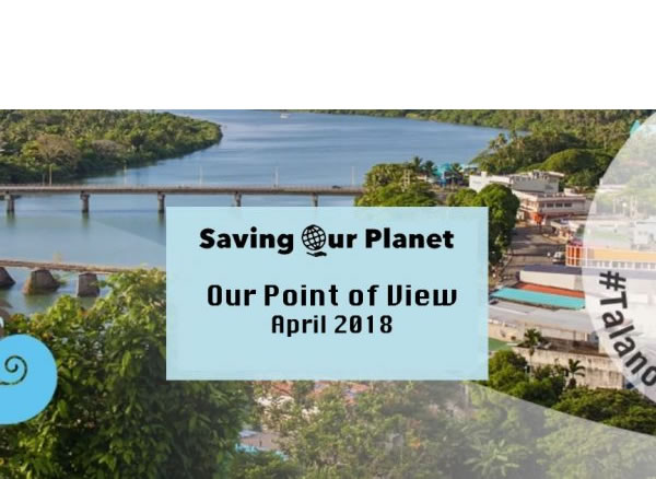 Climate Change site Saving Our Planet's Point of View 2018 post image
