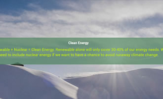 Climate change site Clean Energy link image