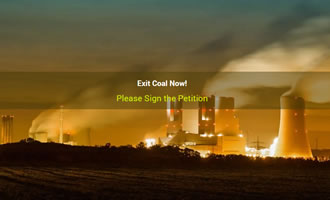 Climate change site Exit Coal Now! link image
