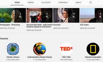 Climate change site The Climate Cinema YouTube link image